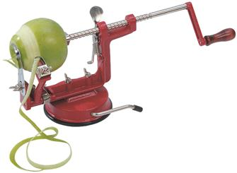 Suction apple peeler