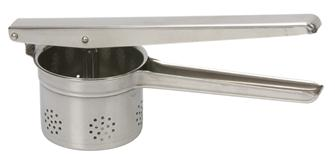 Lever potato masher in stainless steel