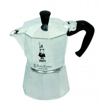 Italian coffee maker in aluminium - 6 cups