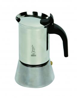 Italian coffee maker in stainless steel - 6 cups