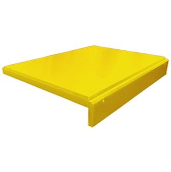 Polyethylene chopping board with ridge - yellow