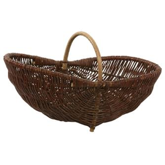Vitner´s gathering basket in wicker - large model