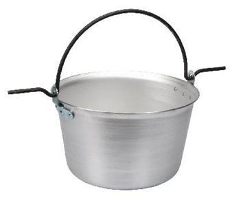 Aluminium cauldron 90 litres