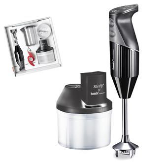 Bamix 200 W hand blender + mini mincer black
