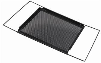 Oven tray with extendable support