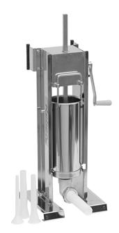 Horizontal / vertical 10 litre stainless steel sausage stuffer