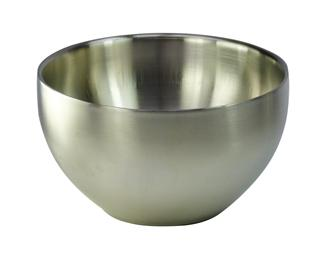 Double walled stainless steel bowl small model 18 cm