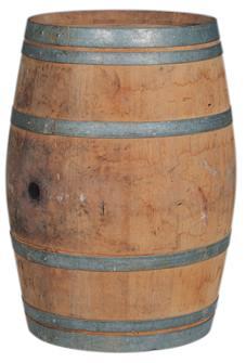 Used oak barrel 225 liters for decoration