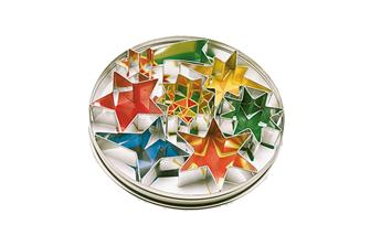Box of 7 star shaped pastry cutter