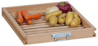 Beech wood drawer for fruit and vegetable storage cabinet