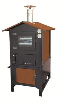 80x45 cm wood oven on a trolley