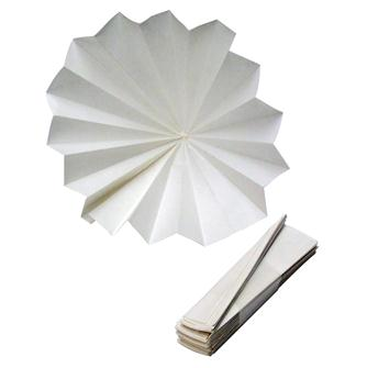 Folded paper filters