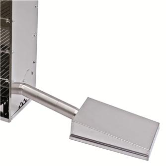 Cold smoking accessory for the Tompress multi-purpose stainless steel fish and meat smokehouse