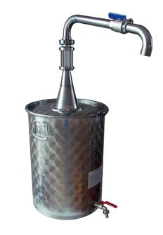 Decanter / Oil can with high pouring tap - 75 litres