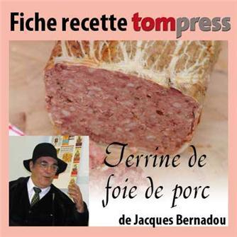 Recipe for pork liver terrine by Jacques Bernadou