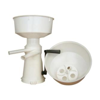Manual plastic skimmer and churner