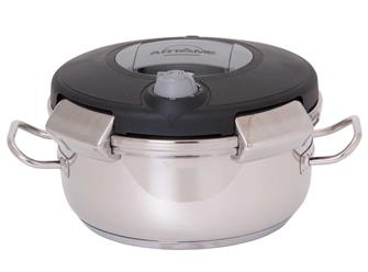 Pressure cooker with clip-on lid 4 litres