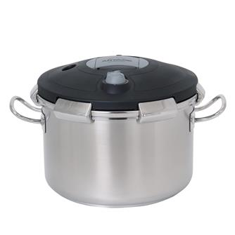 Pressure cooker with clip-on lid 15 litres