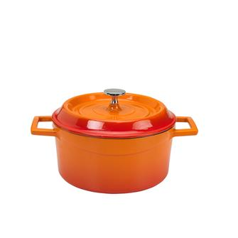 Round 20 cm orange casserole dish
