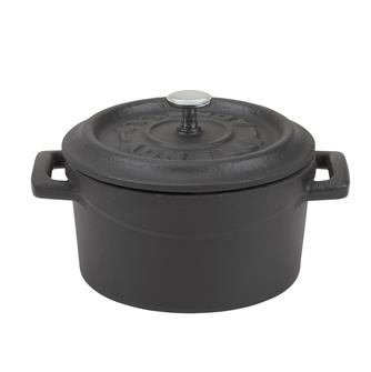 Mini casserole dish 10 cm in cast iron - matt black