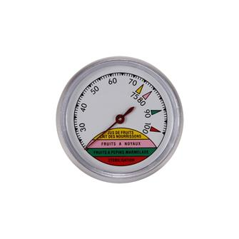 Steriliser thermometer with dial face