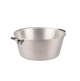 Aluminium basin for grease and jam - 15 litres