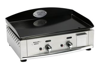 2 burner 60 cm gas plancha cooking plate, 5,500W, 5 mm enamel