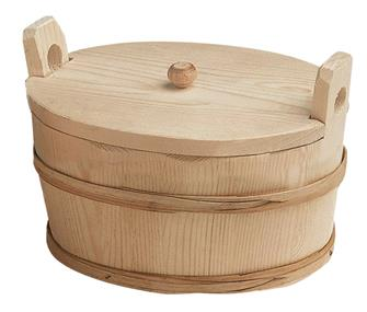 Oval potato basket with a lid - 25 x 17 cm
