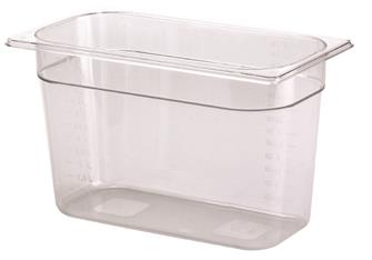 BPA free gastronorm container 1/3 in copolyester. Height 20 cm.
