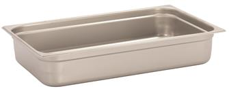 Stainless steel gastronorm container 1/1. Height: 10 cm EN-631