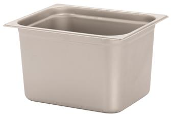 Stainless steel gastronorm container 1/2. Height: 20 cm EN-631