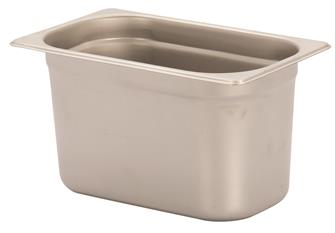 Stainless steel gastronorm container 1/4. Height: 15 cm EN-631