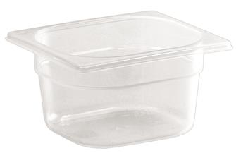 Gastronorm container 1/6 in polypropylene. Height 10 cm