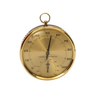 Analogue hygrometer with a thermometer