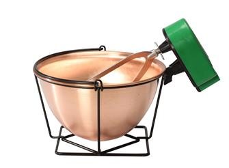 Copper cauldron - 12 litres - with a mixer
