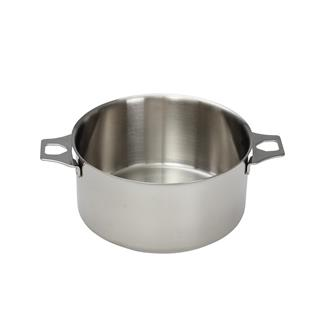 Stainless steel saucepan 16 cm without a lifting handle