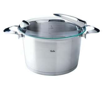 Tall stainless steel cooking pot diameter 24 cm