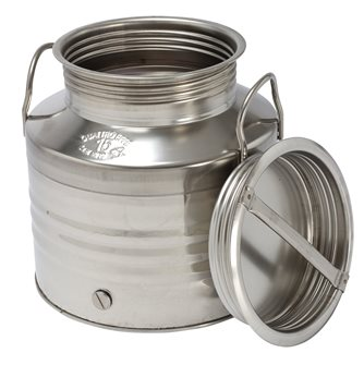Stainless steel oil can - 15 litres