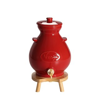 Red stoneware vinegar maker - 4.5 litres