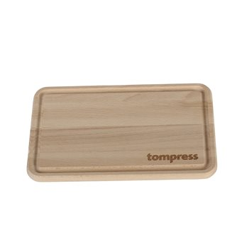 Tom Press chopping board measuring 25x16x1.2 cm