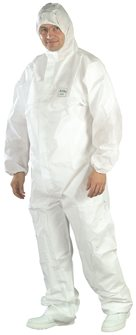 White and waterproof proof suit