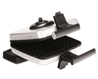Waffle maker with plates for waffles 15x9 cm
