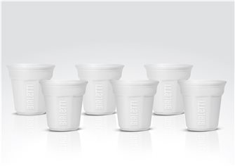 Set of 6 white Bialetti cups