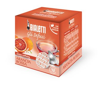 Box of 12 capsules Bialetti infusion blood orange