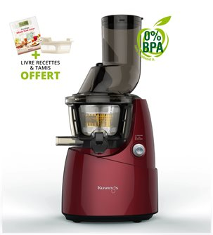 Kuving´s electric juicer with wide opening - red
