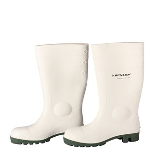 Dunlop size 41 white safety boots for food lab