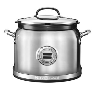 Multi cooker stainless steel 12 functions silver