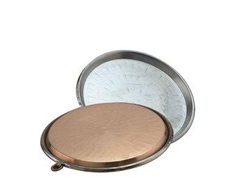 Copper socca dish 34 cm