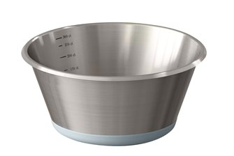 Basin conical stainless steel base silicone 24 cm