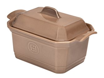 Large foie gras terrine dish - 120 cl - with a press